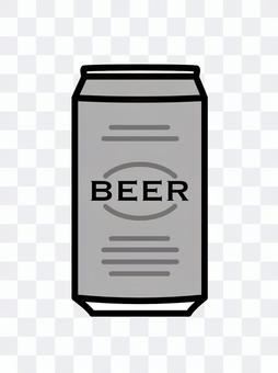 罐裝啤酒簡單銀灰色
