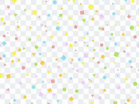 Colorful pattern-round, triangle, square
