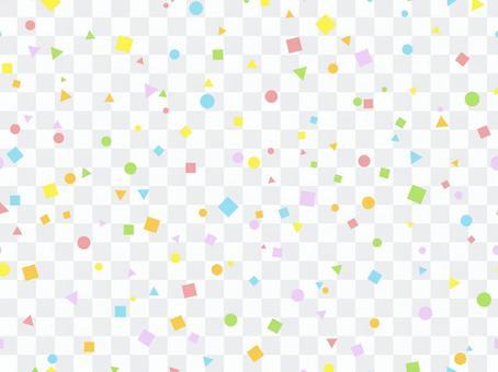 圓形,三角形,正方形的炫彩花紋