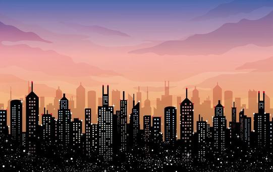 Sunset buildings