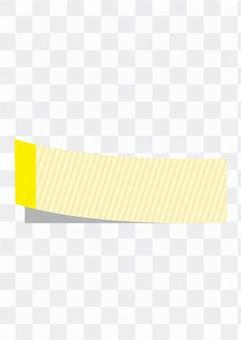 粘性垂直条纹(黄色)