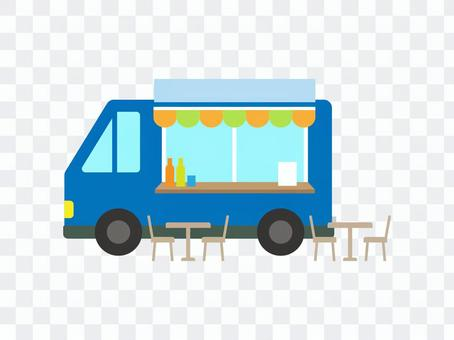 流動銷售廚房汽車的商業自由例證