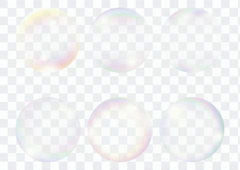 背景透明透明肥皂泡泡套