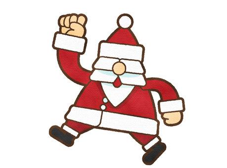 用水彩觸摸 2 跳躍聖誕老人