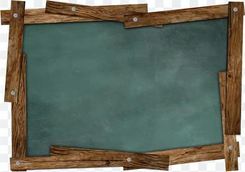 木製框架的更換框架咖啡廳風格的黑板
