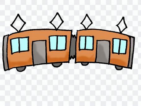 橙色的火車