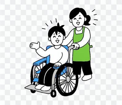 輪椅男圍裙女(簡單)