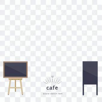 咖啡館黑板例證集合