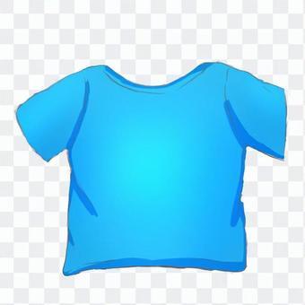 Tシャツ-青