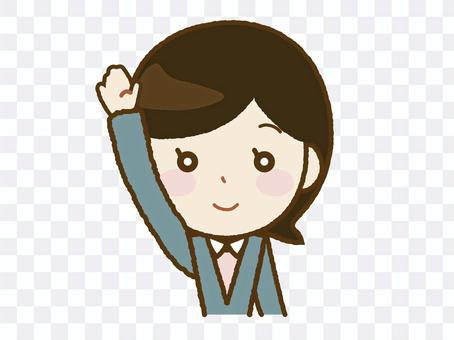 女老師舉手A-43