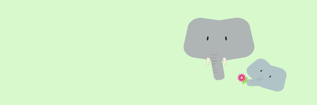 大象父級和子級背景的標頭顏色為綠色