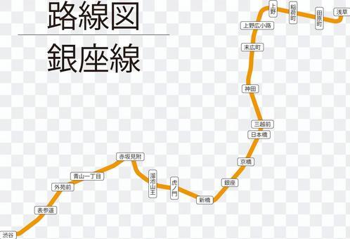 銀座線路線図-リアル