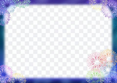 Frame material-colorful fireworks