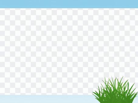 雜草框架簡單的裝飾框架素材圖