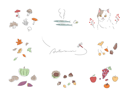 Various autumn sets