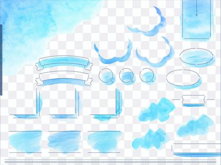 Watercolor layout_blue sky 1