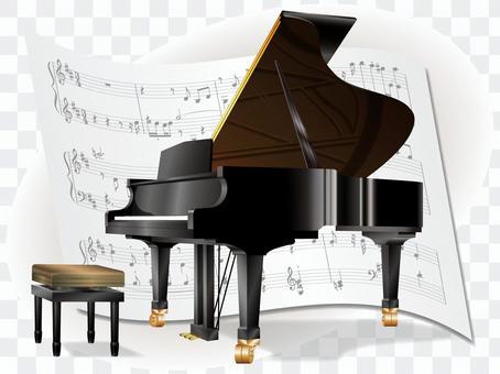 Grand piano and score No. 2