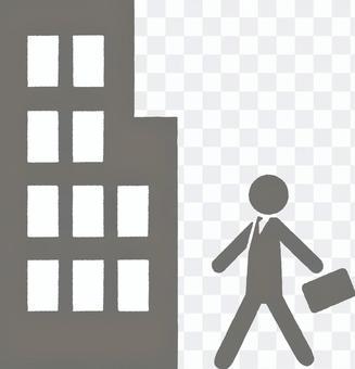 Salary man's pictogram