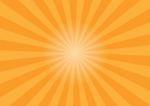 Concentrated line radiation background orange
