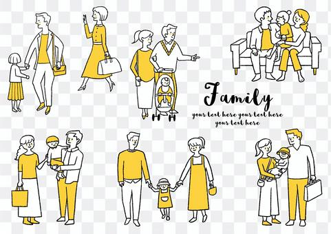 家庭illustration_set 3