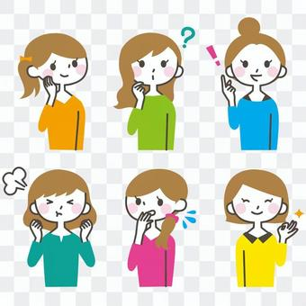 女性的面部表情集