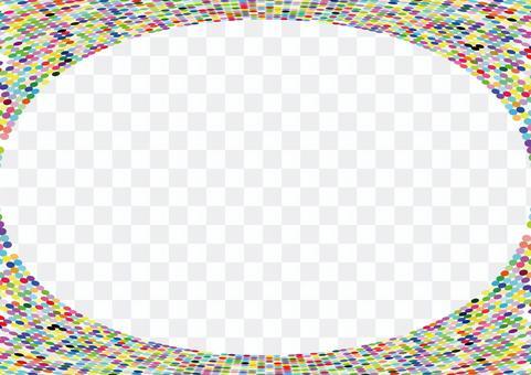 彩色圓點橢圓形鏡框