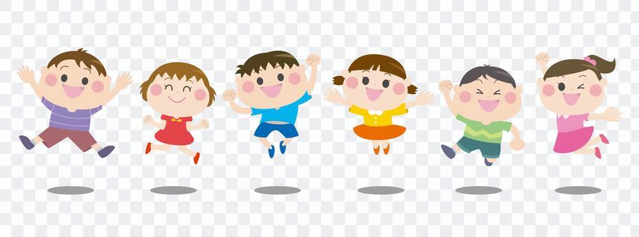 점프하는 아이들