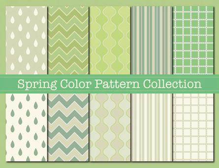 Pattern material 84 (Spring color pattern 01 green)