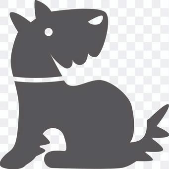 一隻狗回望的插圖