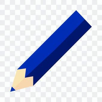 藍色的彩色的鉛筆圖標說明