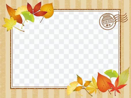 Autumn leaves · autumn leaves letter frame 01