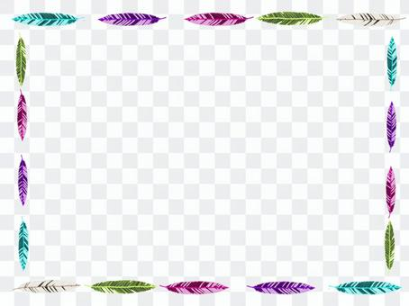 Colorful feather frame