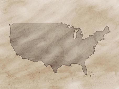美國地圖舊地圖樣式
