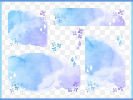 水彩template_rough_hydrangea 1