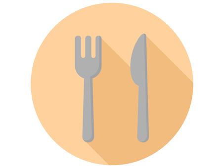 平刀和叉子圖標