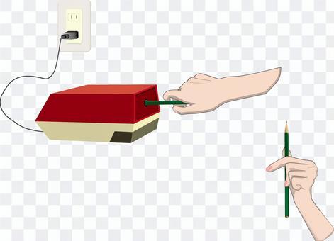 鉛筆 削る 削り器 機械 使う