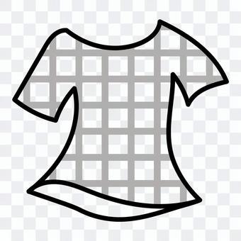 チェックTシャツ(グレー)