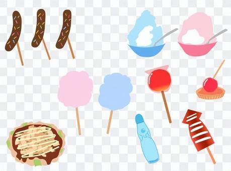 夏季節日街邊小吃