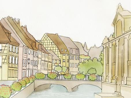 The cityscape of France, Colmar