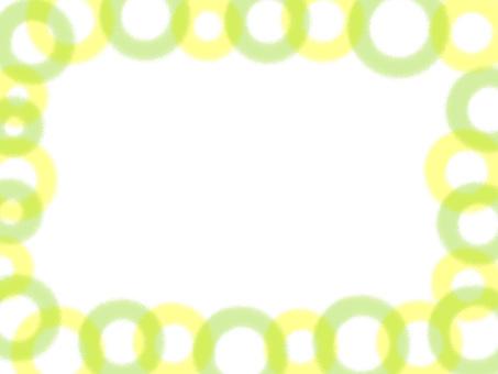 연두색 계열 물방울 프레임