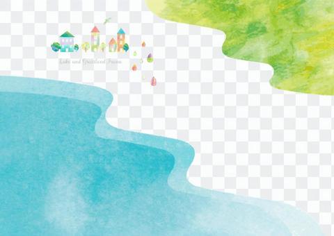 호수와 초원 1