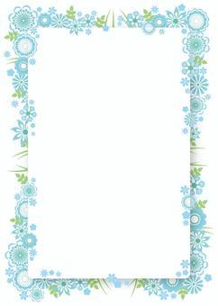 花框架,背景,A4垂直,與油漆