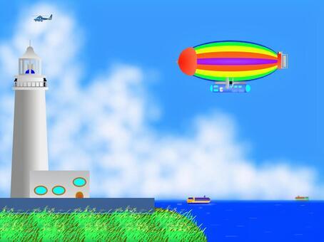飛艇,飛越海角!