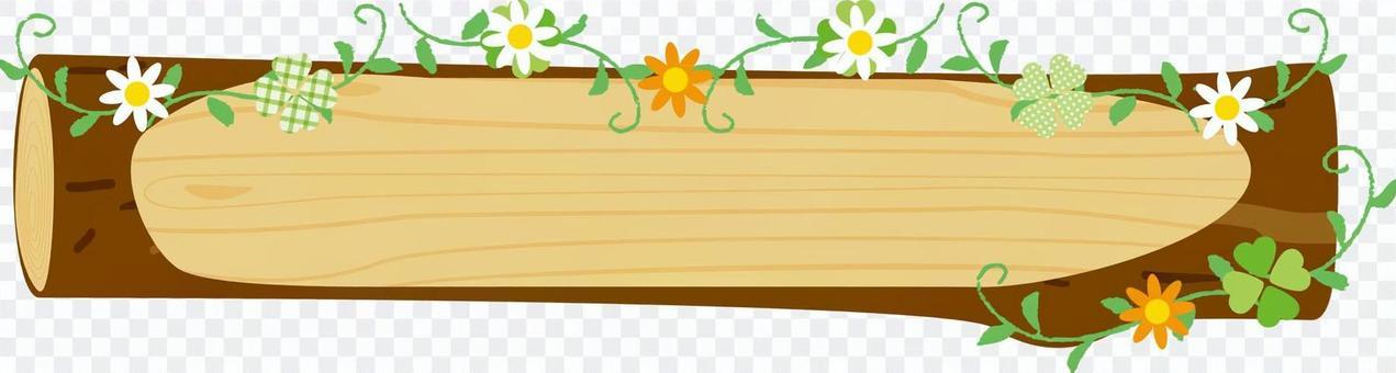 日誌框架_花裝飾