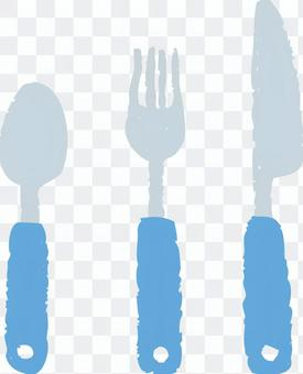 Cutlery (blue)