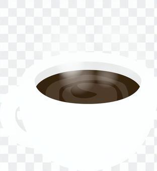 咖啡在一個白色的杯子