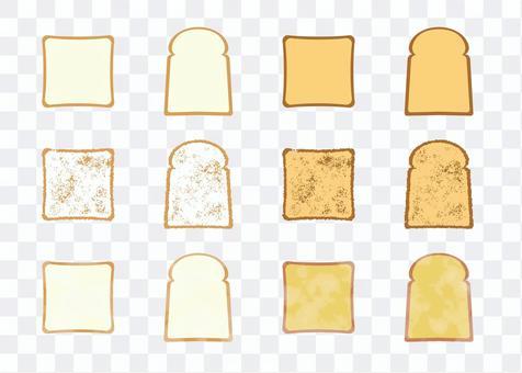 泛麵包標誌性和水彩