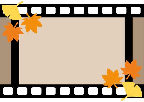 Film frame horizontal (autumn)