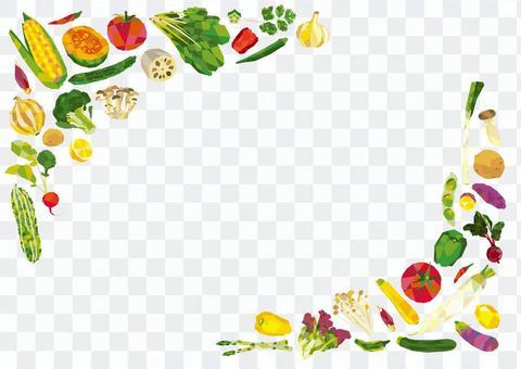 蔬菜括號框