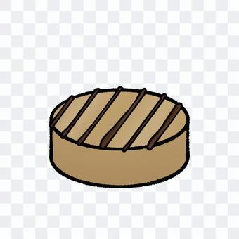 圓形摩卡巧克力(帶輪廓)